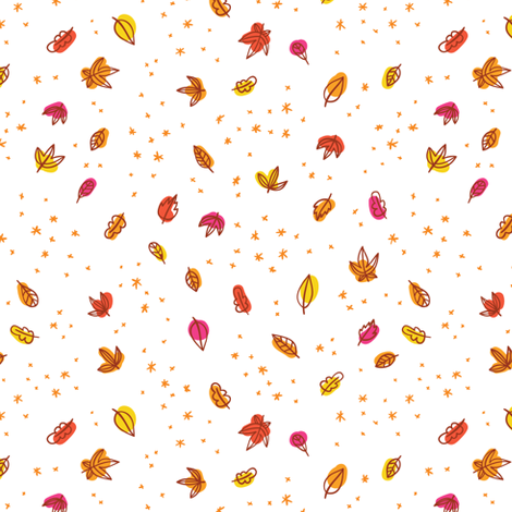 Autumn leaves fabric by stolenpencil on Spoonflower - custom fabric