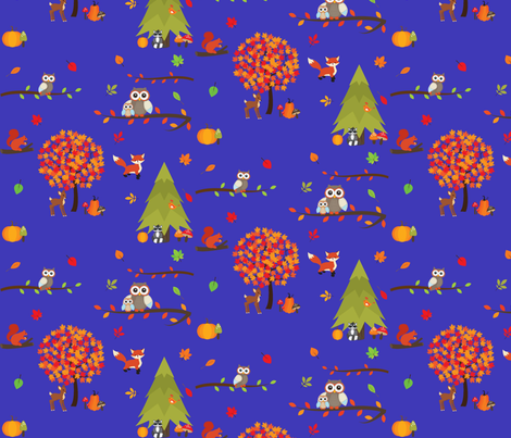 Fall In The Forest fabric by koolchicken on Spoonflower - custom fabric