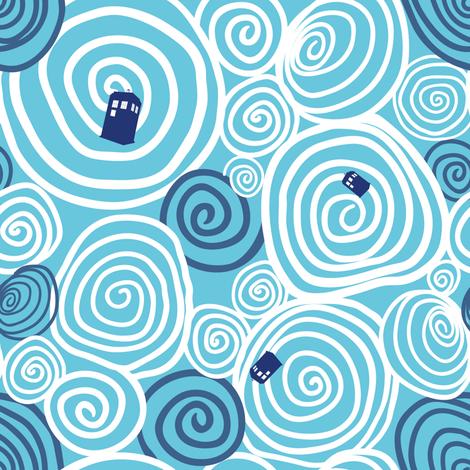 Timey Wimey - 4 - vortex fabric by aliceelettrica on Spoonflower - custom fabric