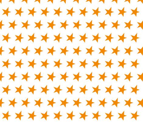orange star - orange fabric by littlecolleydesign on Spoonflower - custom fabric