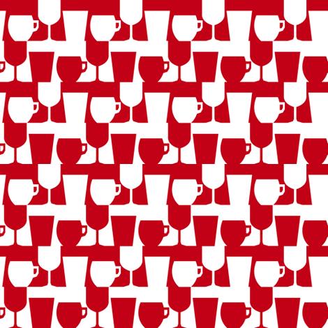 Cup and Glass fabric by kana_hata on Spoonflower - custom fabric