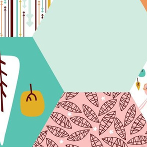 cheater quilt - floral geek