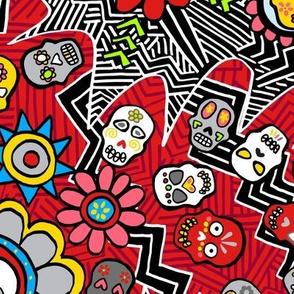Mexican skulls riot