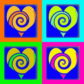 Neon Swirly Hearts