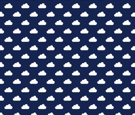1410_clouds_marine_v2 fabric by fruestig on Spoonflower - custom fabric