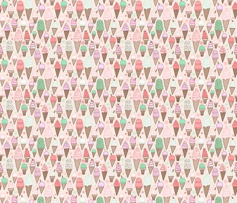 ice cream on cream - smaller scale fabric by kristinnohe on Spoonflower - custom fabric