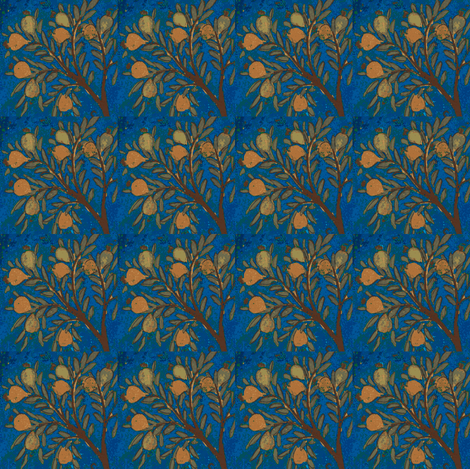 Indian Tree Blue fabric by amyvail on Spoonflower - custom fabric