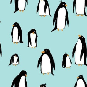 A Plethora of Penguins Blue (Large)