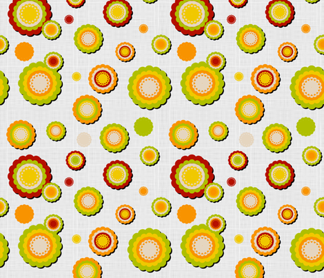 Cuckoo Coordinate (flowers) fabric by vannina on Spoonflower - custom fabric