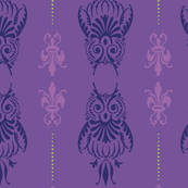 Purple Owl Brocade