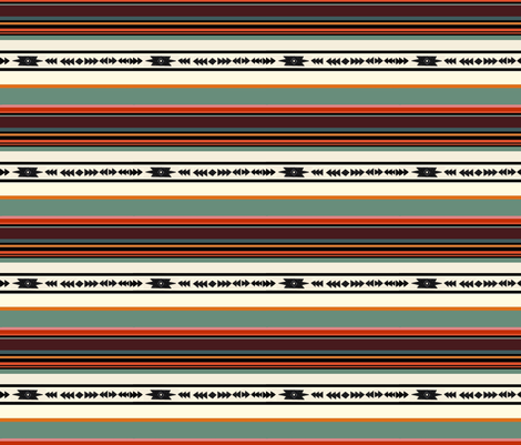 Native stripe  fabric by pistol+arrow on Spoonflower - custom fabric
