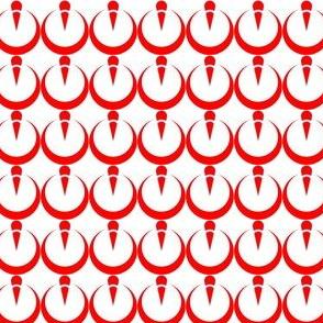 Red & White Geo