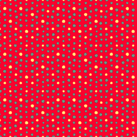 Daisy Wheels fabric by suestrobel on Spoonflower - custom fabric