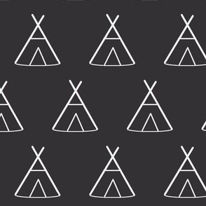 Charcoal TeePees