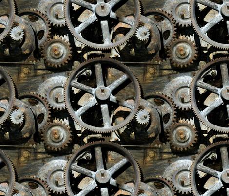 gears fabric by iizzard on Spoonflower - custom fabric