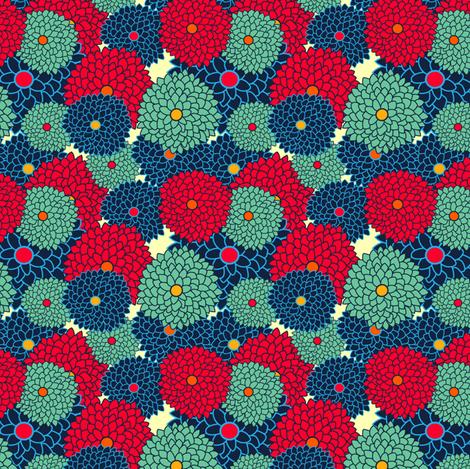 dahlias fabric by suestrobel on Spoonflower - custom fabric