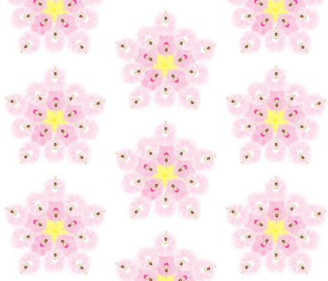 Ballerinas in Flower Formation fabric by colour_angel_by_kv on Spoonflower - custom fabric
