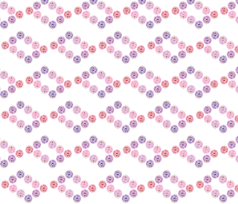 Ballerinas in Formation warm pastels fabric by colour_angel_by_kv on Spoonflower - custom fabric