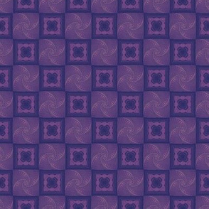 Dark Violet and Navy Iris Folding Squares Tiled