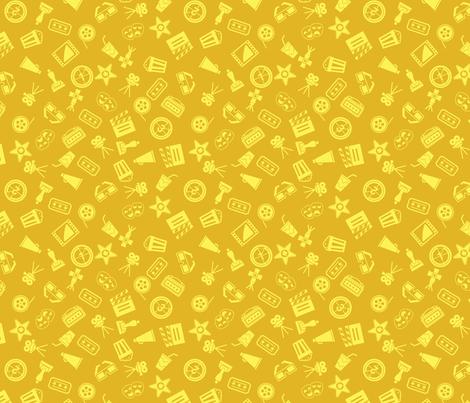 That's Entertainment! (gold) fabric by studiofibonacci on Spoonflower - custom fabric
