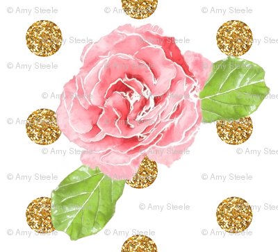 Watercolor Rose Glitz!