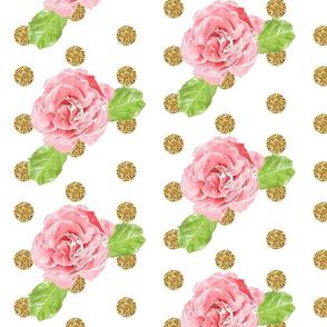 Watercolor Rose Glitz!