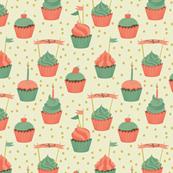 Birthday Party - Cupcakes Cream