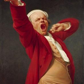 Joseph Ducreux - Self Portrait Yawning (1783)
