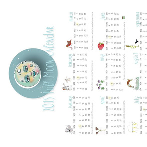 Full Moon Tea Towel 2015 Calendar