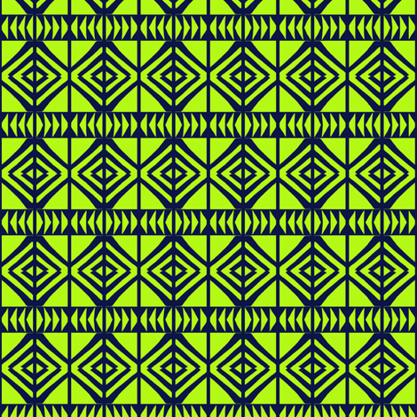 Squares and Arrows Yellow fabric by eve_catt_art on Spoonflower - custom fabric