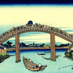 Under Mannen Bridge at Fukagawa (1830)