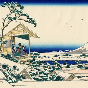 Tea house at Koishikawa. The morning after a snowfall