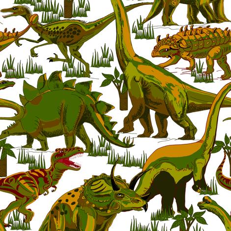 Camo Dinosaurs. fabric by art_on_fabric on Spoonflower - custom fabric