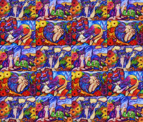 Fab Four Cats fabric by diconnollyart on Spoonflower - custom fabric