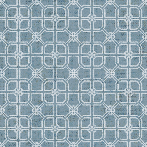 Maze - French Blue fabric by kristopherk on Spoonflower - custom fabric