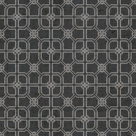 Maze - Noir fabric by kristopherk on Spoonflower - custom fabric