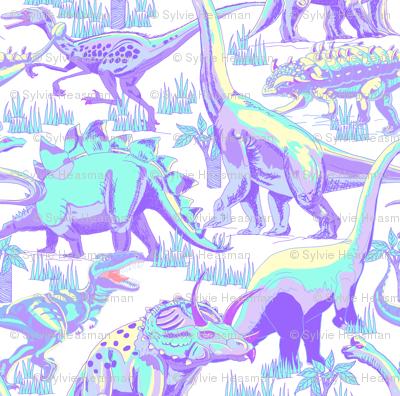 Pastel Dinosaurs.