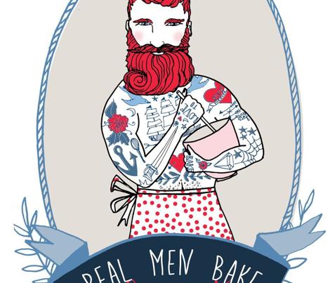 Real Men Bake 2016 tea towel calendar (Navy)