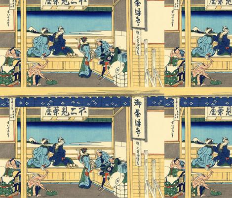 Yoshida at Tōkaidō fabric by studiofibonacci on Spoonflower - custom fabric