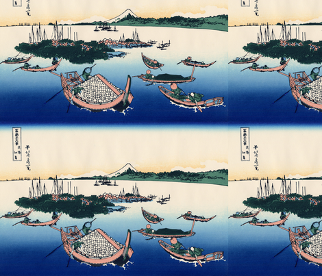 Tsukuda Island in Musashi Province fabric by studiofibonacci on Spoonflower - custom fabric