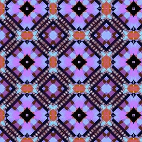 Bright Purple Blue and Black Kaleidoscope Small