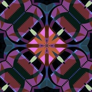 Purple and Pink Kaleidoscope large