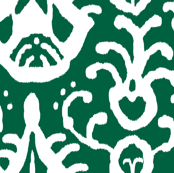 Ikat in emerald