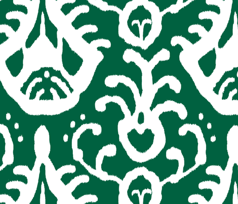 Ikat in emerald fabric by domesticate on Spoonflower - custom fabric