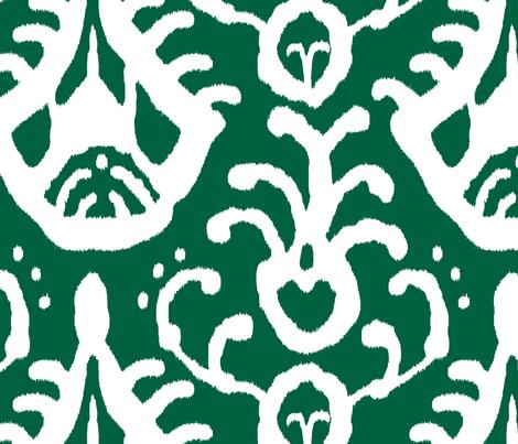 Ikat in emerald wallpa...