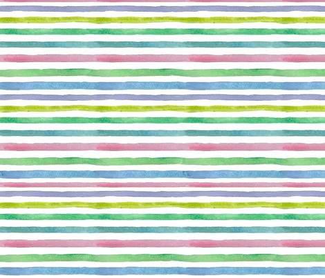 Spring Stripe Horizontal fabric by countrygarden on Spoonflower - custom fabric