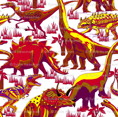 Red Hot Dinosaurs.