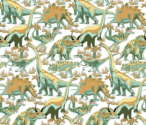 Rdinosaurs_teals_and_golds_on_white_shop_preview