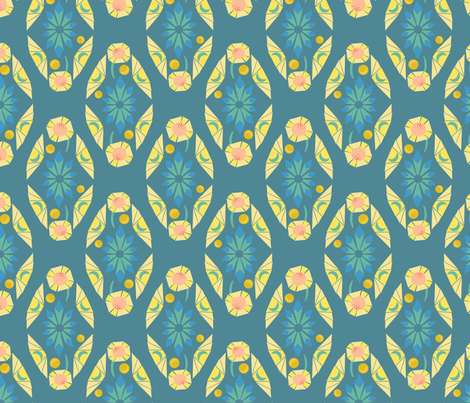 cleo-diamond-2blue fabric by blotchandthrum on Spoonflower - custom fabric