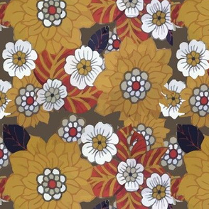 orangebrown retro bloom